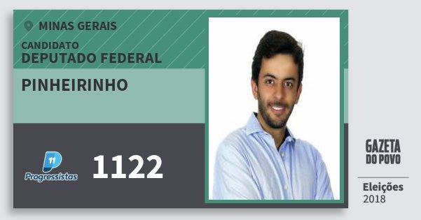 Santinho Pinheirinho 1122 (PP) Deputado Federal | Minas Gerais | Eleições 2018