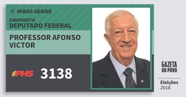 Santinho Professor Afonso Victor 3138 (PHS) Deputado Federal | Minas Gerais | Eleições 2018
