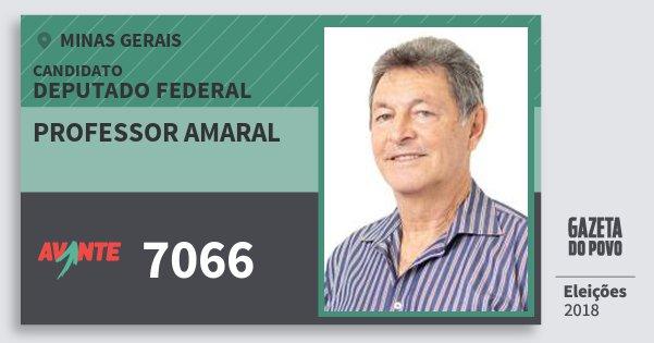 Santinho Professor Amaral 7066 (AVANTE) Deputado Federal | Minas Gerais | Eleições 2018