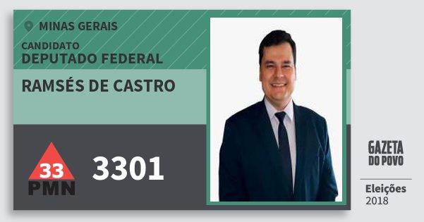Santinho Ramsés de Castro 3301 (PMN) Deputado Federal | Minas Gerais | Eleições 2018