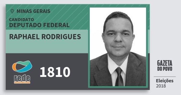 Santinho Raphael Rodrigues 1810 (REDE) Deputado Federal | Minas Gerais | Eleições 2018