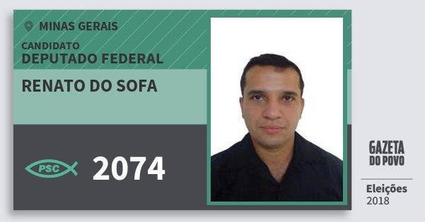 Santinho Renato do Sofa 2074 (PSC) Deputado Federal | Minas Gerais | Eleições 2018