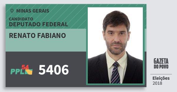 Santinho Renato Fabiano 5406 (PPL) Deputado Federal | Minas Gerais | Eleições 2018