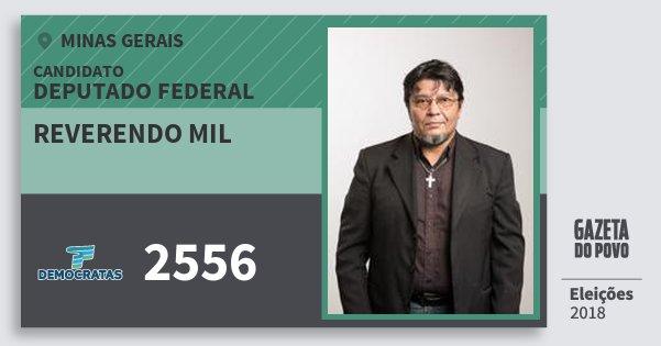 Santinho Reverendo Mil 2556 (DEM) Deputado Federal | Minas Gerais | Eleições 2018