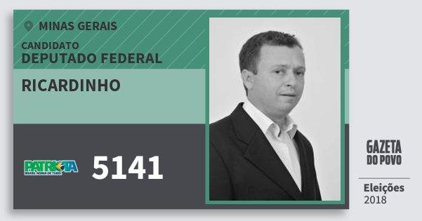 Santinho Ricardinho 5141 (PATRI) Deputado Federal | Minas Gerais | Eleições 2018