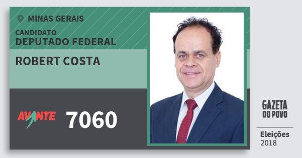 Santinho Robert Costa 7060 (AVANTE) Deputado Federal | Minas Gerais | Eleições 2018