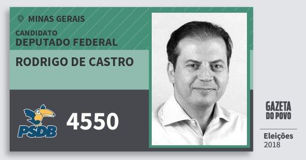 Santinho Rodrigo de Castro 4550 (PSDB) Deputado Federal | Minas Gerais | Eleições 2018