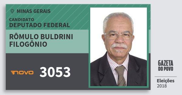 Santinho Rômulo Buldrini Filogônio 3053 (NOVO) Deputado Federal | Minas Gerais | Eleições 2018