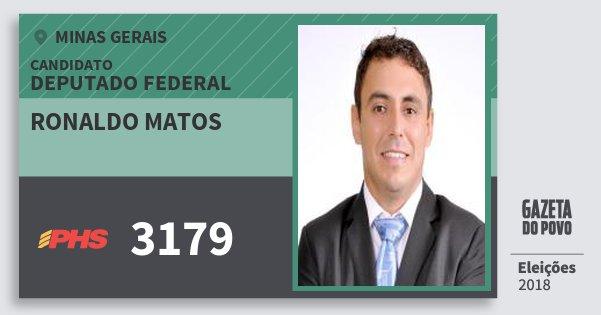 Santinho Ronaldo Matos 3179 (PHS) Deputado Federal | Minas Gerais | Eleições 2018