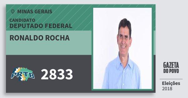 Santinho Ronaldo Rocha 2833 (PRTB) Deputado Federal | Minas Gerais | Eleições 2018