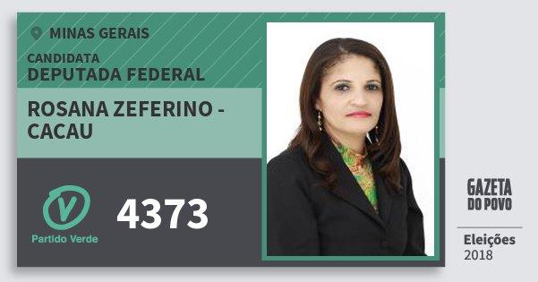 Santinho Rosana Zeferino - Cacau 4373 (PV) Deputada Federal | Minas Gerais | Eleições 2018