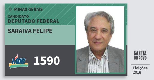 Santinho Saraiva Felipe 1590 (MDB) Deputado Federal | Minas Gerais | Eleições 2018