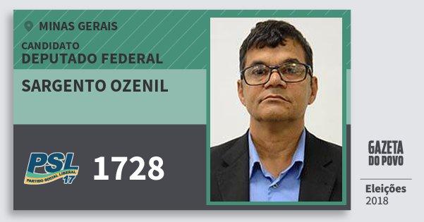 Santinho Sargento Ozenil 1728 (PSL) Deputado Federal | Minas Gerais | Eleições 2018