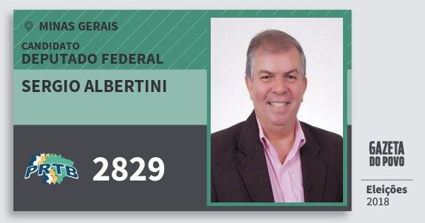 Santinho Sergio Albertini 2829 (PRTB) Deputado Federal | Minas Gerais | Eleições 2018