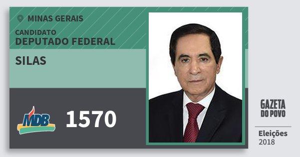 Santinho Silas 1570 (MDB) Deputado Federal | Minas Gerais | Eleições 2018
