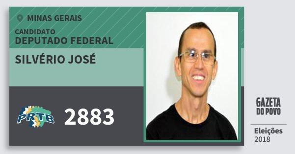 Santinho Silvério José 2883 (PRTB) Deputado Federal | Minas Gerais | Eleições 2018