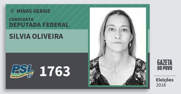 Santinho Silvia Oliveira 1763 (PSL) Deputada Federal | Minas Gerais | Eleições 2018