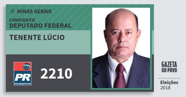 Santinho Tenente Lúcio 2210 (PR) Deputado Federal | Minas Gerais | Eleições 2018