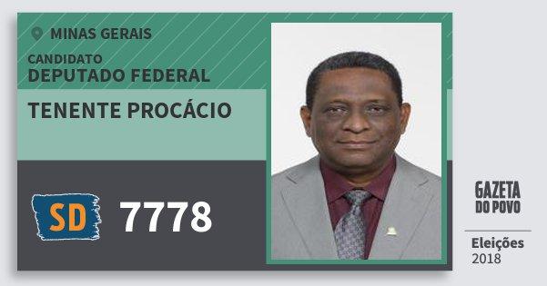 Santinho Tenente Procácio 7778 (SOLIDARIEDADE) Deputado Federal | Minas Gerais | Eleições 2018