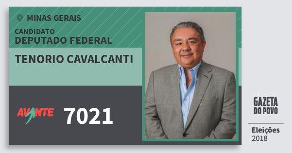 Santinho Tenorio Cavalcanti 7021 (AVANTE) Deputado Federal | Minas Gerais | Eleições 2018
