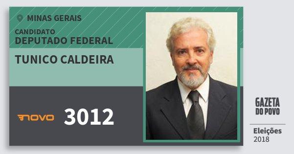 Santinho Tunico Caldeira 3012 (NOVO) Deputado Federal | Minas Gerais | Eleições 2018