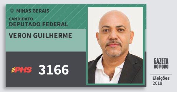 Santinho Veron Guilherme 3166 (PHS) Deputado Federal | Minas Gerais | Eleições 2018