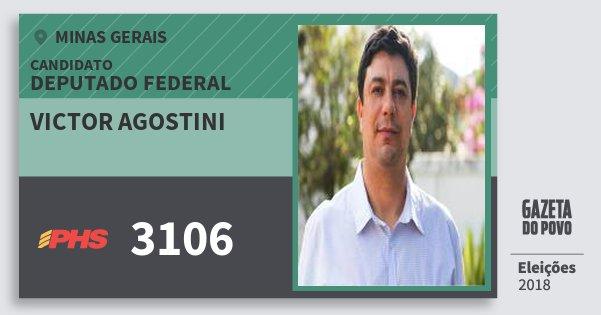 Santinho Victor Agostini 3106 (PHS) Deputado Federal | Minas Gerais | Eleições 2018
