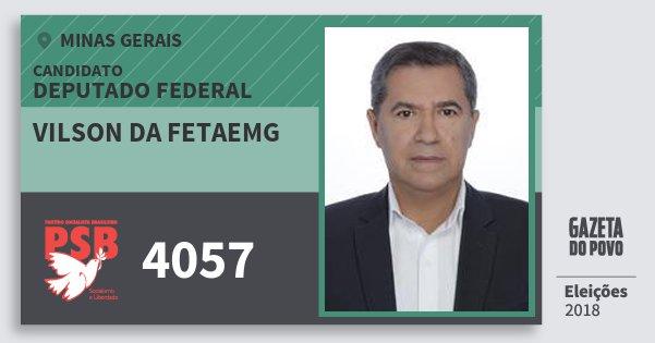 Santinho Vilson da Fetaemg 4057 (PSB) Deputado Federal | Minas Gerais | Eleições 2018