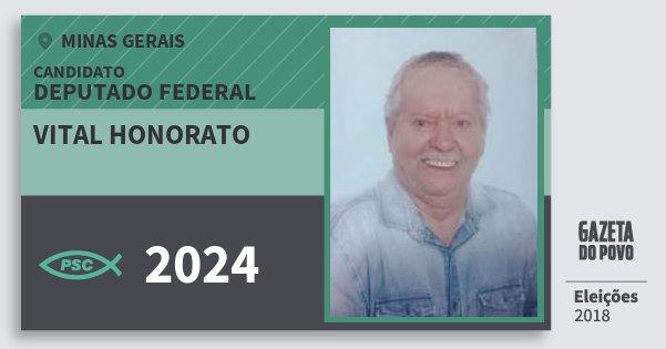 Santinho Vital Honorato 2024 (PSC) Deputado Federal | Minas Gerais | Eleições 2018