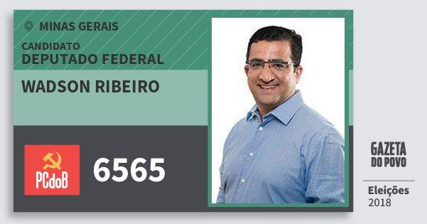 Santinho Wadson Ribeiro 6565 (PC do B) Deputado Federal | Minas Gerais | Eleições 2018