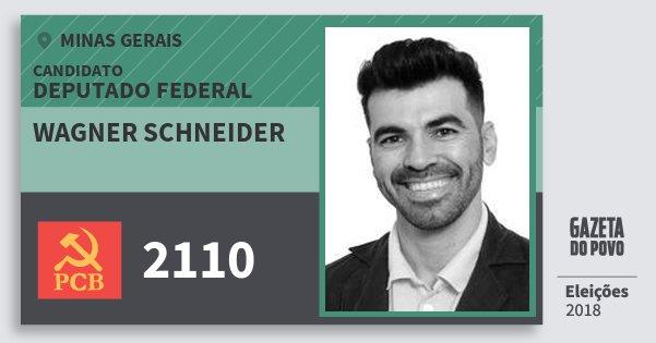 Santinho Wagner Schneider 2110 (PCB) Deputado Federal | Minas Gerais | Eleições 2018
