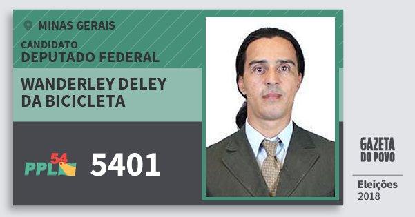 Santinho Wanderley Deley da Bicicleta 5401 (PPL) Deputado Federal | Minas Gerais | Eleições 2018