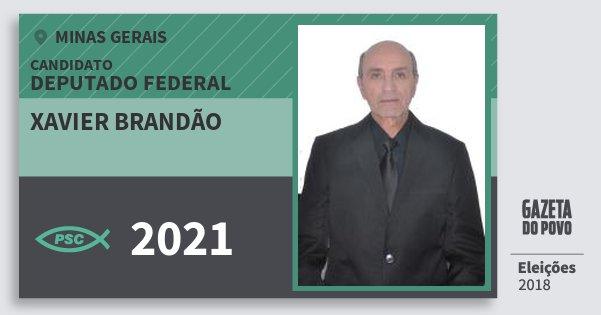 Santinho Xavier Brandão 2021 (PSC) Deputado Federal | Minas Gerais | Eleições 2018