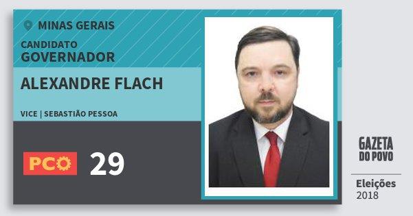 Santinho Alexandre Flach 29 (PCO) Governador | Minas Gerais | Eleições 2018