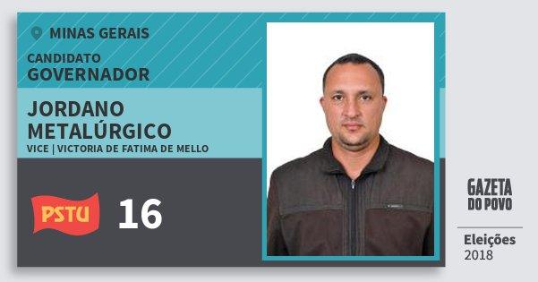 Santinho Jordano Metalúrgico 16 (PSTU) Governador | Minas Gerais | Eleições 2018