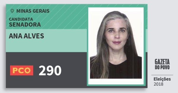 Santinho Ana Alves 290 (PCO) Senadora | Minas Gerais | Eleições 2018