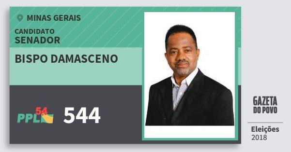 Santinho Bispo Damasceno 544 (PPL) Senador | Minas Gerais | Eleições 2018