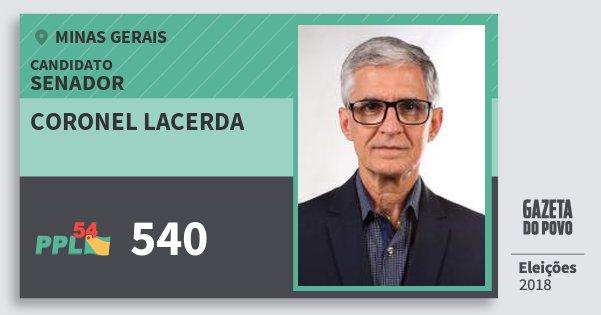 Santinho Coronel Lacerda 540 (PPL) Senador | Minas Gerais | Eleições 2018