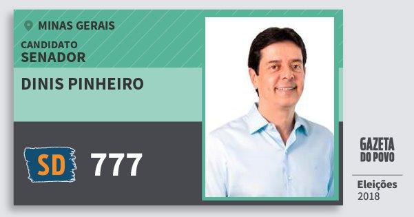 Santinho Dinis Pinheiro 777 (SOLIDARIEDADE) Senador | Minas Gerais | Eleições 2018