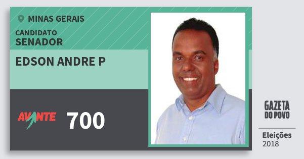 Santinho Edson Andre P 700 (AVANTE) Senador | Minas Gerais | Eleições 2018