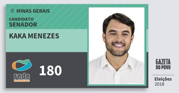 Santinho Kaka Menezes 180 (REDE) Senador | Minas Gerais | Eleições 2018