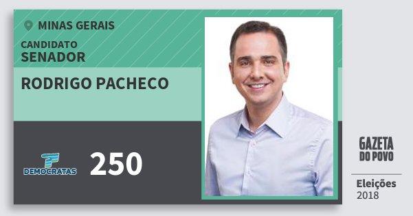 Santinho Rodrigo Pacheco 250 (DEM) Senador | Minas Gerais | Eleições 2018