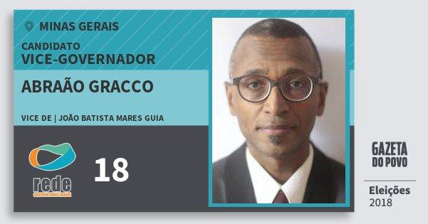 Santinho Abraão Gracco 18 (REDE) Vice-governador | Minas Gerais | Eleições 2018
