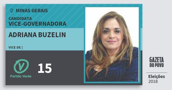 Santinho Adriana Buzelin 15 (PV) Vice-Governadora | Minas Gerais | Eleições 2018