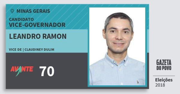 Santinho Leandro Ramon 70 (AVANTE) Vice-governador   Minas Gerais   Eleições 2018