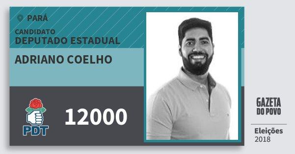 Santinho Adriano Coelho 12000 (PDT) Deputado Estadual | Pará | Eleições 2018