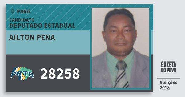 Santinho Ailton Pena 28258 (PRTB) Deputado Estadual | Pará | Eleições 2018