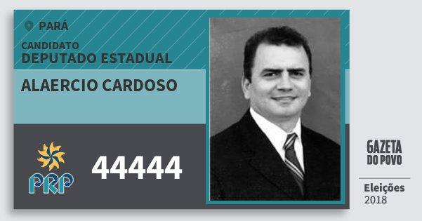 Santinho Alaercio Cardoso 44444 (PRP) Deputado Estadual | Pará | Eleições 2018