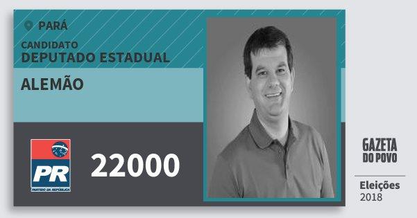 Santinho Alemão 22000 (PR) Deputado Estadual   Pará   Eleições 2018
