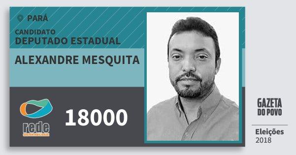 Santinho Alexandre Mesquita 18000 (REDE) Deputado Estadual | Pará | Eleições 2018